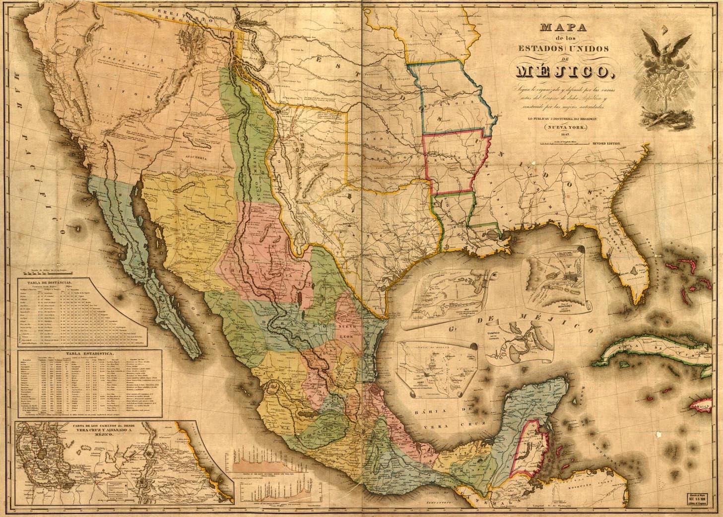 Texas Map Mexican War