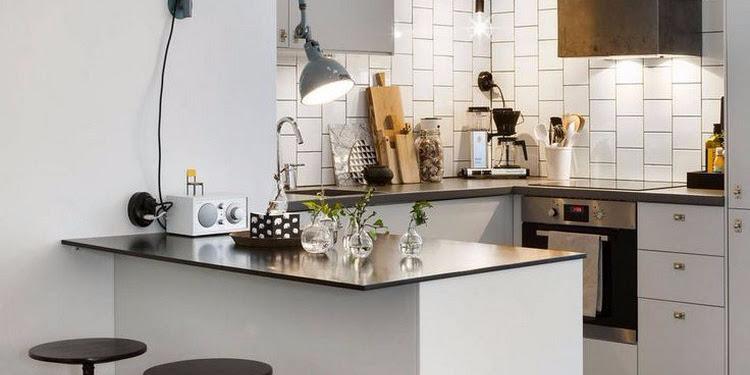 Dekorasi Desain Meja Bar Dapur Terbaru