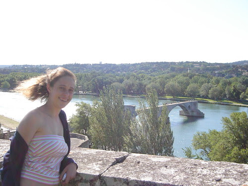 With the Pont D'Avignon