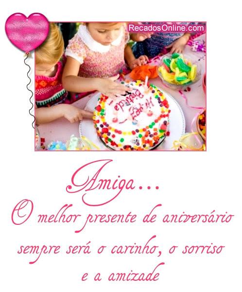 Mensagem De Aniversário Amiga Especial Orkut E Cartão Mensagens