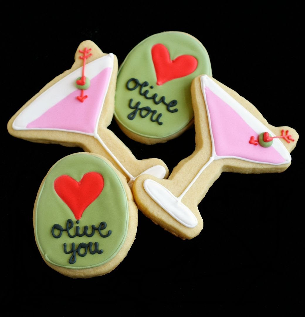 olive you decorated cookies | bakeat350.net