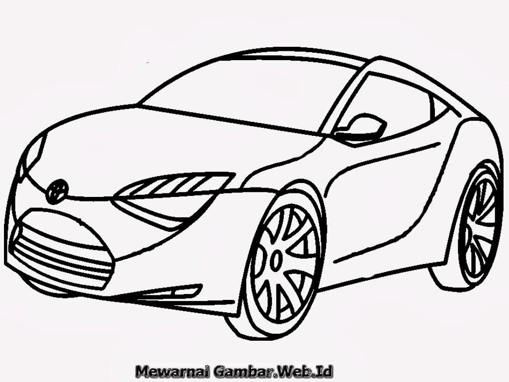 Coloring And Drawing Mewarnai Mobil Balap