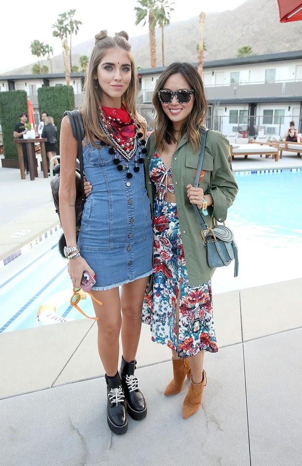 As fashionistas Chiara Ferragni e Aimee Song (Foto: Getty Image)