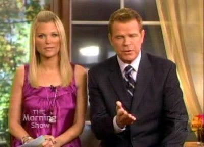 Juliet Huddy and Mike Jerrick on THE MORNING SHOW WITH MIKE AND JULIET.