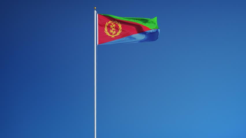 Download Eritrea Flag Loop 3 Stock Footage Video 1370527 - Shutterstock