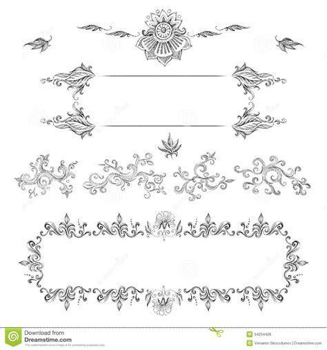 A Set Of Decorative Frames And Design Elements, Floral