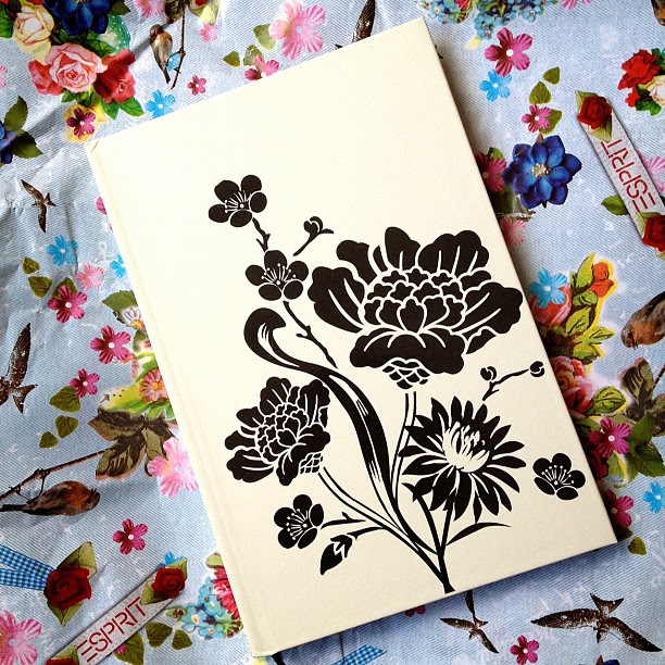 My sister bought me a #journal #gift #floral #black #cream