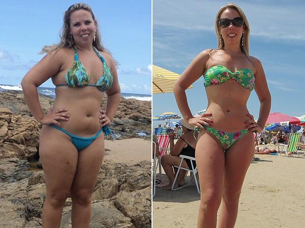 Ana antes e depois (Foto: Arquivo pessoal)