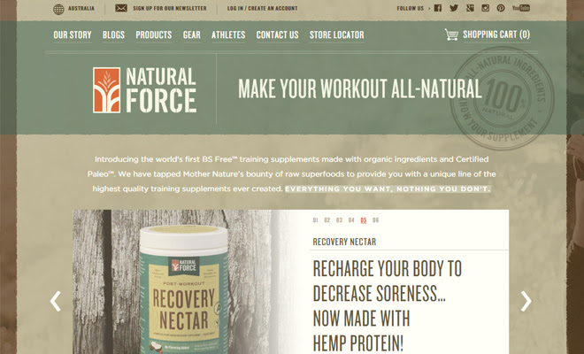 natural force nutrition ecommerce shopify