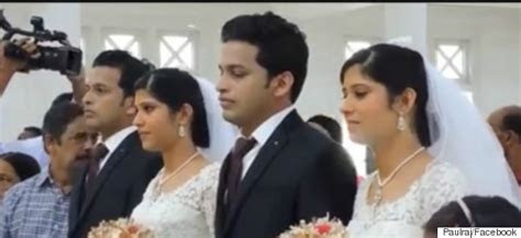 Twins Wed Twins In Kerala In The Presence Of Twin Priests