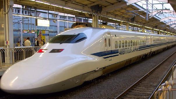 El tren bala Shinkansen, que opera actualmente en Japón, alcanza los 320 kilómetros por hora.
