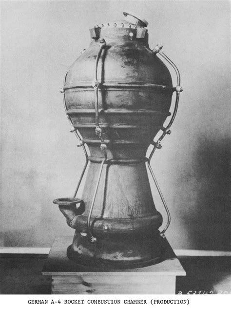 Vintage V-2 Rocket Engine Combustion Chamber Photos