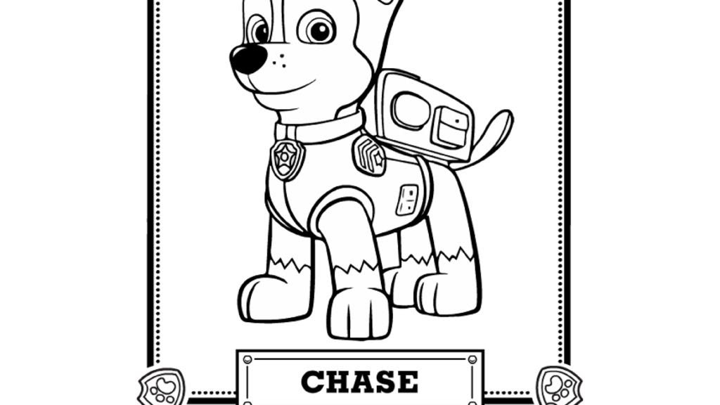 35 Paw Patrol Chase Coloring Pages - Free Printable Coloring Pages