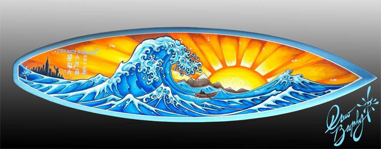 Hand-painted surfboards: all you need is imagination and a small dose of talent | Art: Drew Brophy