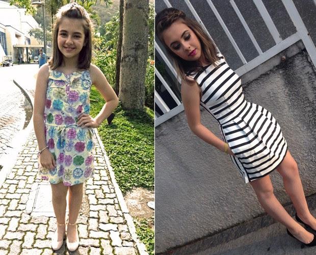 Antes e depois: Klara em 2013 e em 2015 (Foto: Arquivo pessoal)