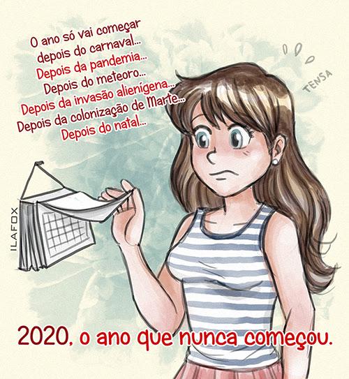ilustração 2020, ano de 2020, o ano que nunca começou, retrospectiva 2020, ilustração, ila fox