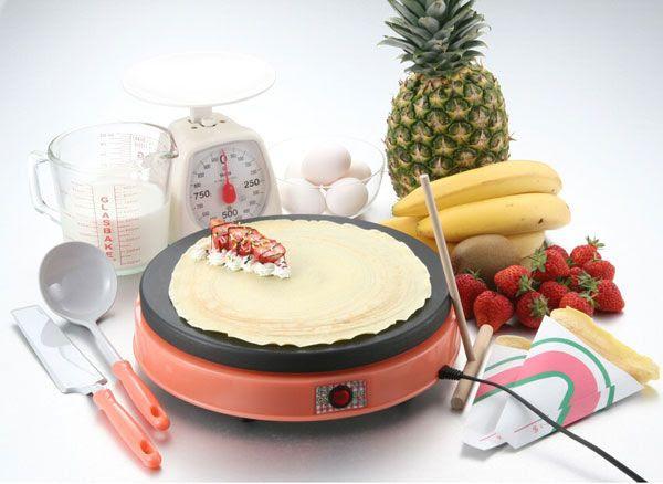 【楽天市場】家庭用 電気クレープメーカー 『DoReMi(ドレミ)』 クレープ焼き器!お家でクレープ屋さん! 袋10枚付のフルセット!【楽ギフ_包装】:アットスポット