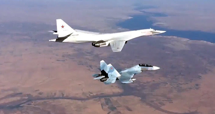 Russian Air Force's long-range aircraft hit Daesh targets in Syria.