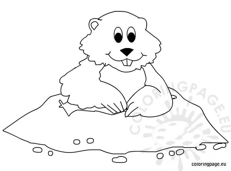 Indi Groundhog Day Coloring Sheets Free