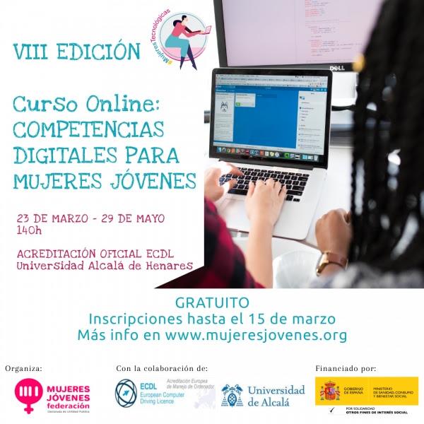 VIII Edición do Curso online Competencias Dixitais para Mulleres Novas