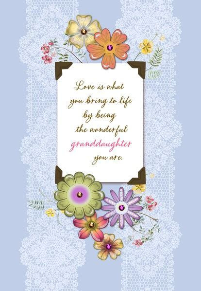 Wonderful Granddaughter Birthday Card   Greeting Cards