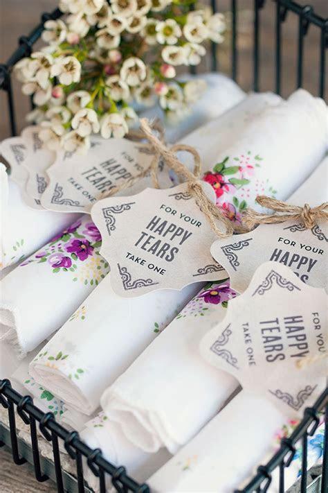 """Happy Tears"" Handkerchief Wedding Favors   Wedding"