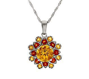 Brazilian Colors of Citrine Sterling Pendant