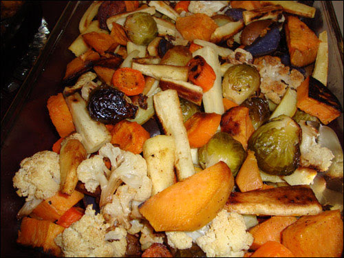 Thanksgiving veggies, October 9