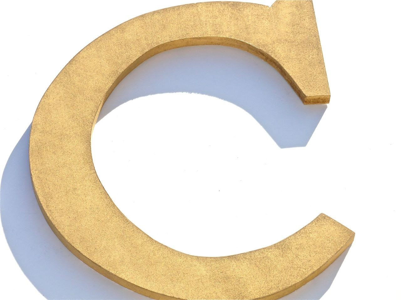 custom wood gold letter c wall decor by compulsivecollection