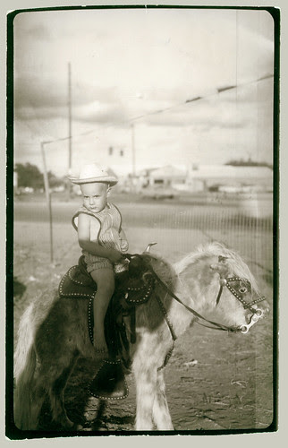 Kid on a pony