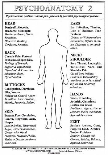 Psychoanatomy chart 2
