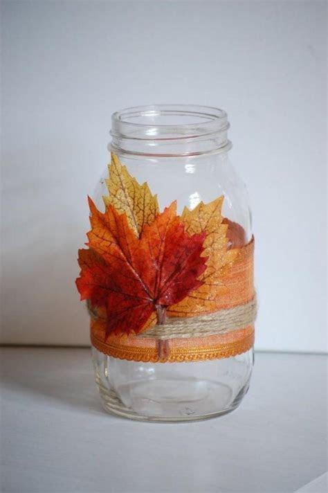 Autumn Twine Mason Jar, Fall Shabby Chic Home Decor