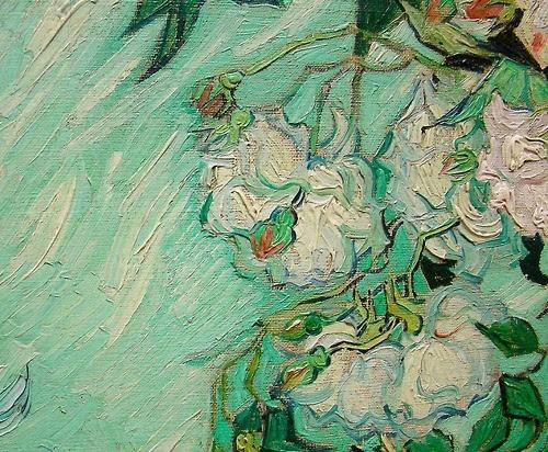 Van Gogh - Roses, detail