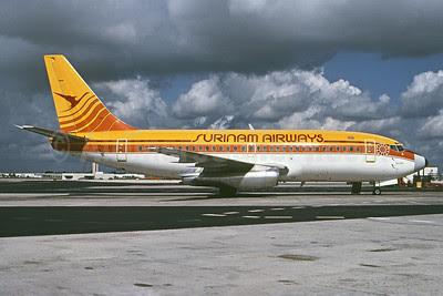 Surinam Airways (Maersk Air) Boeing 737-2L9 OY-APR (msn 22407) MIA (Bruce Drum). Image: 102418.