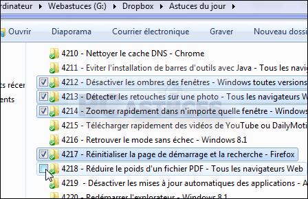 طريقة تظليل عدة ملفات معينة دفعة واحدة بالصور في ويندوز7  Windows