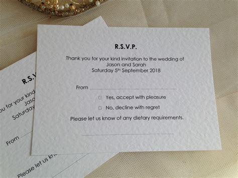 Menu RSVP cards with menu choice, Menu Reply Cards, Menu