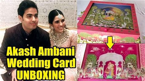 Akash Ambani Wedding Card Unboxing Video   Mukesh Ambani