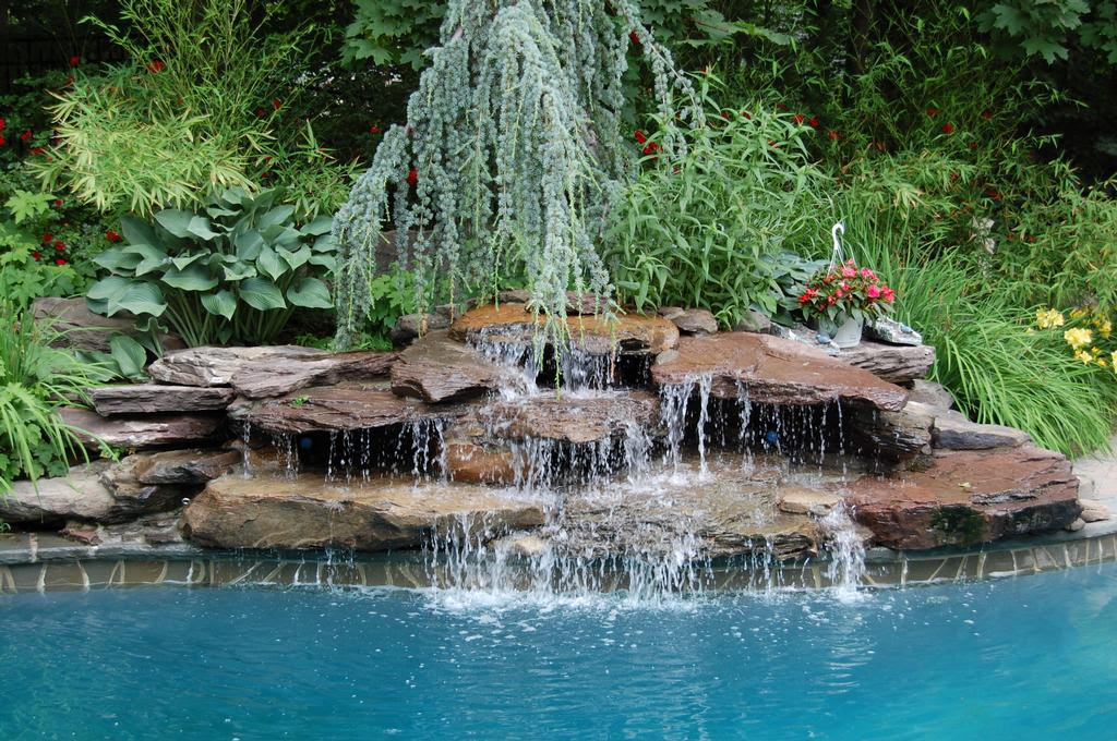 Landscape Pool Design Waterfall