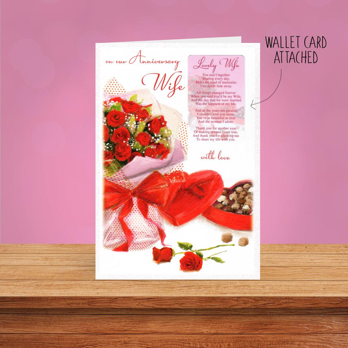 Lovely Wife Anniversary Wallet Card