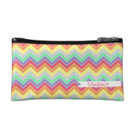 Candy Coated {chevron pattern} Cosmetics Bags
