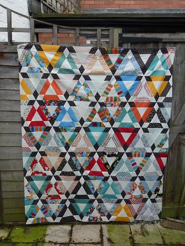 Hopscotch quilt top