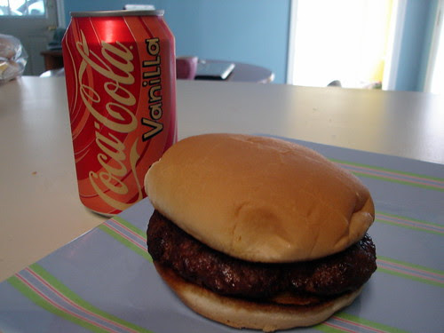 Smoked Burgers and Vanilla Coke