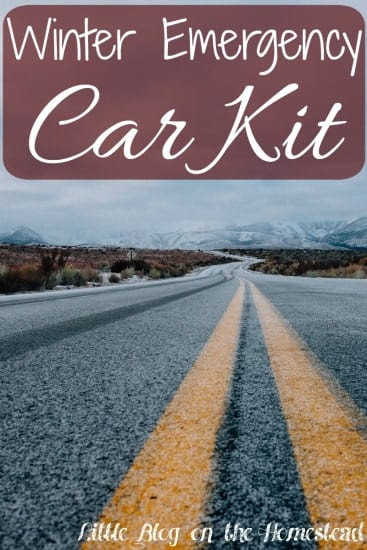 Featured on the Homestead Blog Hop - Winter-Car-Kit