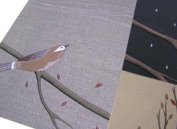 large art postcard set // just birds // set of six postcard prints featuring three designs by natasha newton