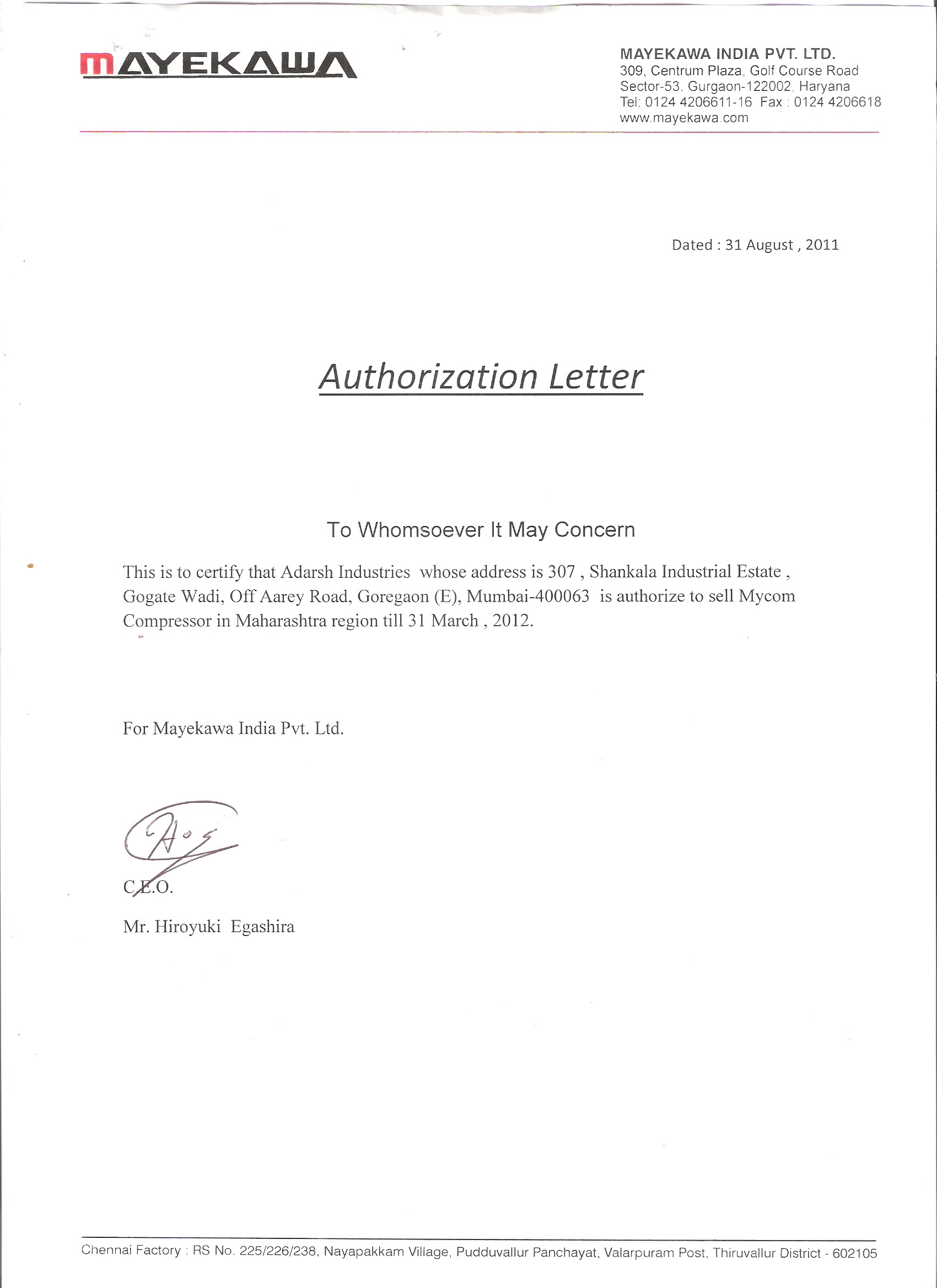 Authorization Letter Format For Company Representative. authorization letter  Endo re enhance dental co