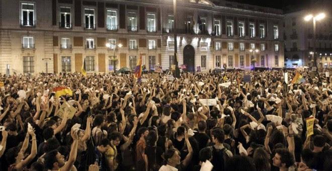 Ahora Madrid recordaba que la protesta del 15 de mayo de 2011 tuvo un impacto en todo el país.- EFE