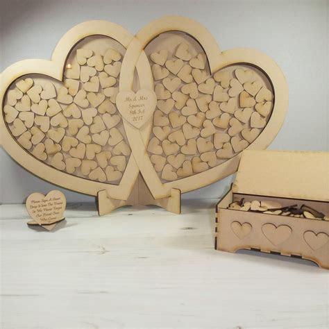 mdf wedding drop box heart guest book diy anniversary
