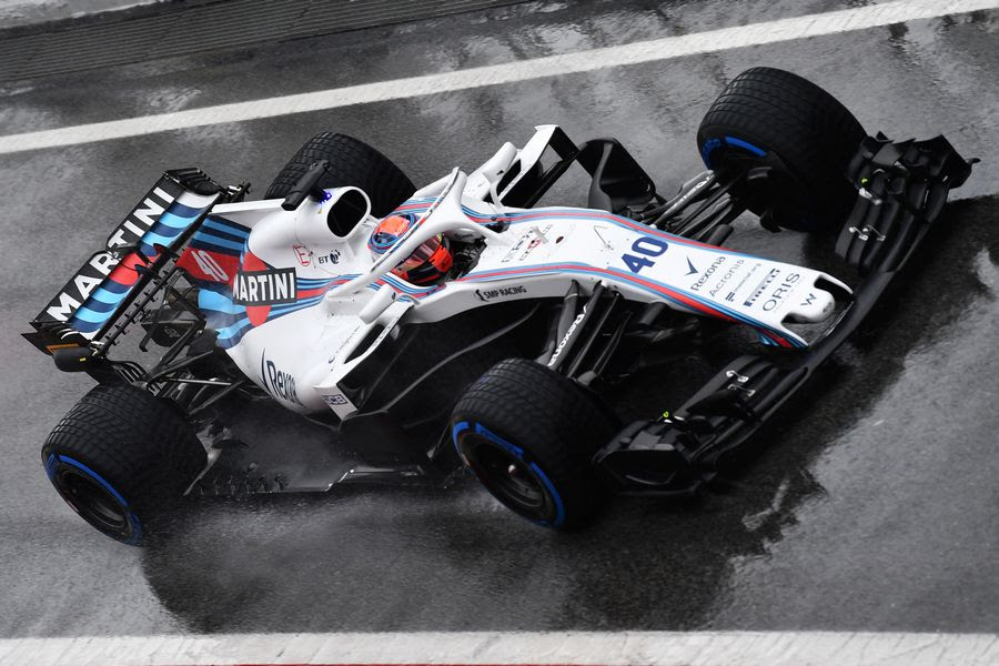 Robert Kubica Powers Down The Pit Lane In The Williams Russian Grand Prix Photos Espn Co Uk