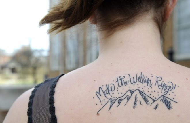 Would You Get A Tattoo Of Lyrics From Your Alma Mater Tattoo