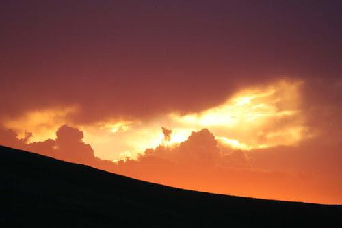 Amazing sunset -orange